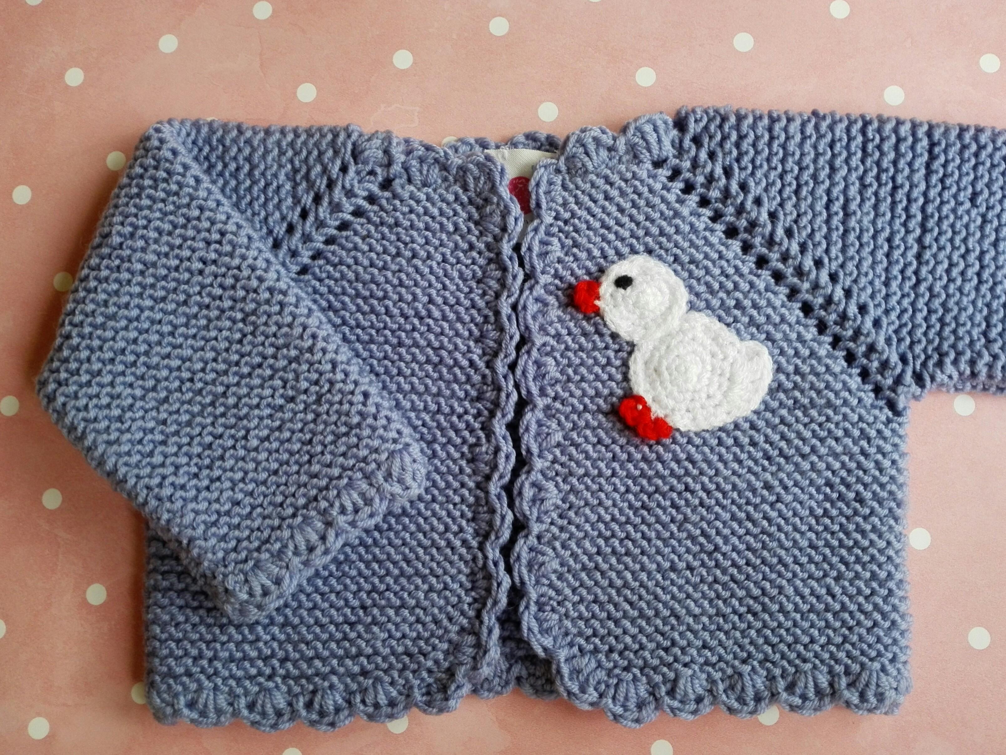 ccaa7be0e Chaqueta bebé de 0 a 3 meses de lana merino azul lavanda